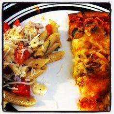 #homemade #healthy #pizza And #mozzarella penne salad Using Van Roehling's Cheesy Italian!