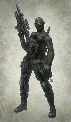 Cyberpunk, Future, Futuristic, Warrior, Snake Eyes