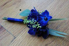 blue delphinium cake | blue delphinium boutonniere utah wedding flowers studio stems