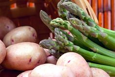 DILLED POTATOES AND ASPARAGUS ~ This delicate recipe is easily adaptable to the vegetables that are available. Substitute green beans, snow peas or sugar snap peas for the asparagus.