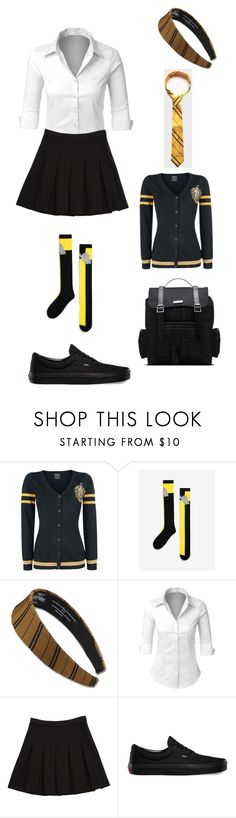 """""""hufflepuff"""" by cindy-morton on Polyvore featuring LE3NO, Diane Von Furstenberg, Vans and Dr. Martens"""