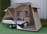 Lees-ure Lite motorcycle camper trailer