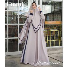 Alana Syari by Ummi Modern Hijab Fashion, Modest Fashion, Fashion Dresses, Moslem Fashion, Hijab Collection, Mode Abaya, Fashion Vocabulary, Designs For Dresses, Embroidery Fashion