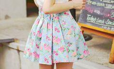 jupe à fleurs