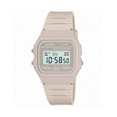 Classic Light Grey Watch F-91WC-8AEF from Casio ($50) ❤ liked on Polyvore featuring jewelry, watches, casio wrist watch, casio watches and casio