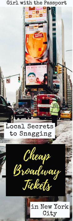 A local's guide to all the travel hacks and travel tips that New Yorkers use to get cheap Broadway tickets for almost all the best shows in New York City; discount Broadway Plays that can be almost fifty percent off. #TravelDestinationsUsaNortheast