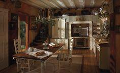 Marchi Group - Incontrada Cucina rustica in legno massello - Cucina naturale - Piano marmo