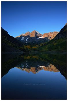 ☆ Blue Sky Morning: The Maroon Bells - Aspen, Colorado :→: Photographer Nate-Zeman ☆