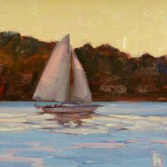 sailboats | Kelley MacDonald's Daily Paintings: Heading Home, 6x6 Inch Oil ...