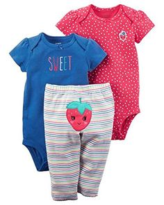 bd9d77f050b Carter s Baby Girl Strawberry 3-Piece Little Character Se... https