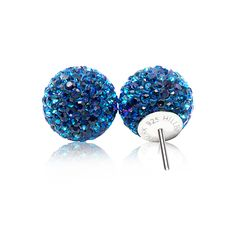 Sparkle Ball Stud Earrings – Hillberg & Berk - Bermuda Blue