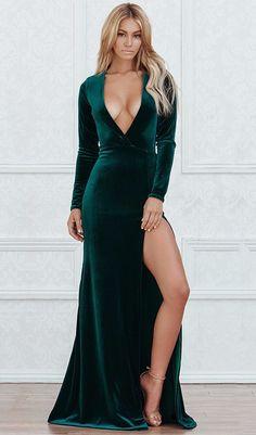 Courtney Velvet Maxi Dress