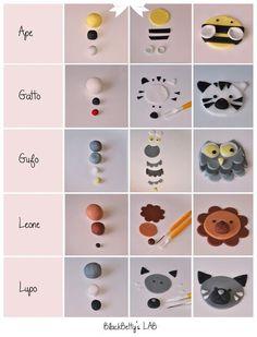 animales en fimo, arcilla, porcelana, pasta flexible etc, paso a paso