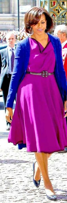 Michelle Obama, a winter in her right colours