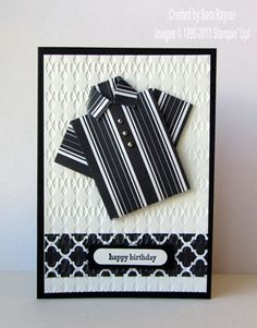 Modern Medley origami shirt card - Stampin' Up!