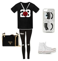"""black Friday"" by bakershepardjakhiya on Polyvore featuring Topshop, Chiara Ferragni, Converse and Prada"