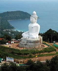 See the Big Budda in Phuket Thailand...looking at the land formation to the left of the Buddha