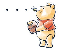 LINE Official Stickers - Winnie the Pooh & Christopher Robin Example with GIF Animation Winnie The Pooh Drawing, Winnie The Pooh Pictures, Cute Winnie The Pooh, Winne The Pooh, Winnie The Pooh Quotes, Winnie The Pooh Friends, Winnie The Pooh Tattoos, Kawaii Drawings, Disney Drawings