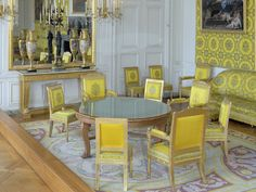 Palace of Versailles, Inside the Grand Trianon, The Family Room Chateau Versailles, Palace Of Versailles, Trianon Versailles, Louis Xiv, French Interior, Interior Design, Trianon Palace, Townhouse Designs, Aubusson Rugs
