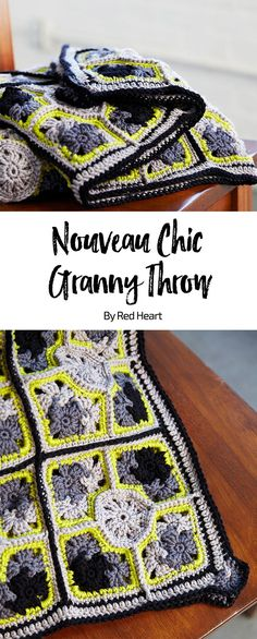 Granny Squares Crochet Nouveau Chic Granny Throw free crochet pattern in Chic Sheep Merino Wool yarn by Marly Bird. Moogly Crochet, Crochet Afgans, Crochet Quilt, Love Crochet, Crochet Motif, Beautiful Crochet, Crochet Yarn, Knitting Yarn, Wool Yarn