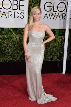 Reese Witherspoon in Calvin Klein #GoldenGlobes #weddingdress #inspiration
