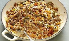 Yotam Ottolenghi's beef, apricot and almond pilaf