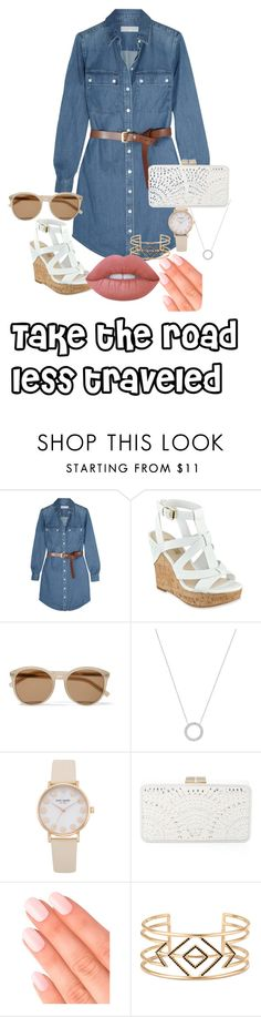 """Made by Isabelle"" by beau-ward ❤ liked on Polyvore featuring MICHAEL Michael Kors, GUESS, Yves Saint Laurent, Michael Kors, BCBGMAXAZRIA, Elegant Touch, Stella & Dot and Lime Crime"