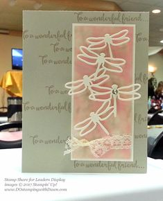 Stampin' Up! Dragonfly Dreams bundle display cards shared by Dawn Olchefske #dostamping