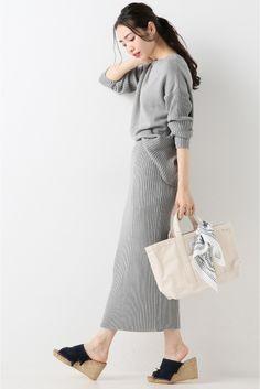 ニットセットアップスカート