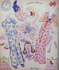 1943 A BUSY DAY WITH PEG and DOT PAPER DOLLS