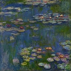 Claude Monet Water-Lilies 1914 art painting for sale; Shop your favorite Claude Monet Water-Lilies 1914 painting on canvas or frame at discount price. Claude Monet, Monet Paintings, Landscape Paintings, Landscape Quilts, Flower Paintings, Artist Monet, Wow Art, Impressionist Paintings, Art Moderne