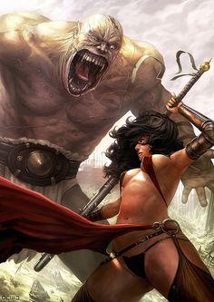 Warrior women fantasy art Part 5 Fantasy Kunst, Anime Fantasy, Fantasy World, Fantasy Art, Fantasy Images, Fantasy Warrior, Warrior Girl, Warrior Women, Dark Warrior