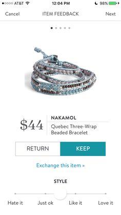 5e869d3681c Nakamol Quebec Three-Wrap Beaded Bracelet - $44.00 Χαριτωμένα Ρούχα,  Κεμπέκ, Καλλιτεχνικές Κατασκευές