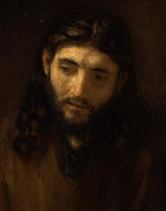 Can you imagine posing as the face of Christ for Rembrandt van Rijn? Evidence supports that Rembrandt used his neighbor in the Jewish Quarter of Amsterdam as the model for this moving depiction of. Rembrandt Portrait, Rembrandt Paintings, Art Paintings, Watercolor Paintings, Saint Jean Paul Ii, Jesus Crist, Images Of Christ, Louvre, Jesus Face