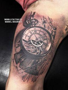 Tatuaje reloj abstracto - vtattoo - Miguel Bohigues