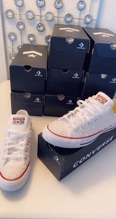 Custom Pearl Converse Chucks | Etsy Red Chucks, Converse All Star, Pearl Shop, Wedding Nails, Custom Items, New Shoes, Wedding Signs, Chuck Taylors, Wedding Photos