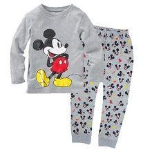 2016 New Hot Minnie Crianças Rato Dos Desenhos Animados Do Bebê Meninos Menina Crianças Homewear Sleepwear Pijama Definir Roupas Outfits Frete Grátis(China (Mainland))