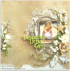 """Guest Designing Over At Kraft Plus Challenge BlogFor 2Crafty Chipboard""""Beautiful Little Girl"""". Di Garling"""