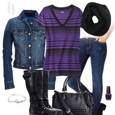 Cute Jean Jacket & Jeans Outfit
