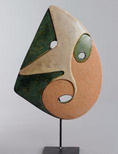 Céramique d'art Masque Janine Louvet - Laruelle Mask Ceramic pottery artistic 13   eBay