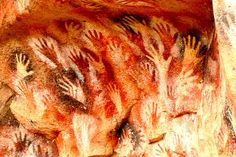 Paleolithic cave painting - hand stencil art by Mark_Ashton_Smith,