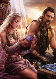 Edició il·lustrada de 'A Game of Thrones': Daenerys i Khal Drogo