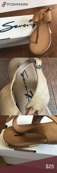 Seven sandals tan/ taupe Brand new pair of sandals with box .❗️price firm❗️no further offers or bundle discounts Seven7 Shoes Sandals