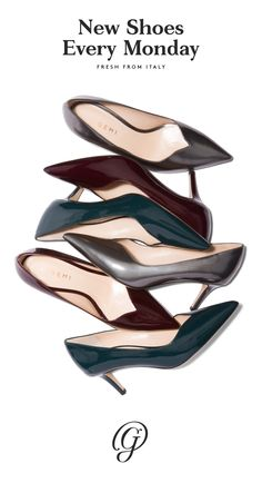M.Gemi releases a brand new set of handcrafted Italian shoes every single week. Sandals, flats, pumps, peep toes, booties, moccasins—it's a mystery until the day they release. To find out first and to get a sneak peek the day before the shoes debut, sign up for our newsletter by clicking to visit our site.