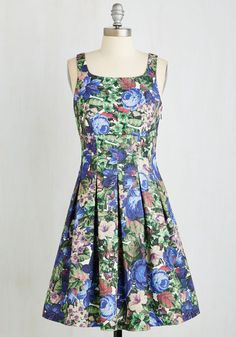 Tick, Tick, Bloom Dress. This vivacious floral frock is a vertiable style explosion! #multi #modcloth