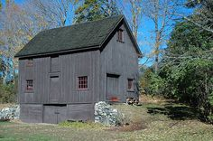 beautifully preserved barn in Boxford, Massachusetts