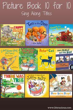 Picture Book 10 for 10 - Sing Along – Literacious Preschool Music, Preschool Books, Music Activities, Teaching Music, Preschool Learning, Toddler Books, Childrens Books, Summer Reading Program, Elementary Music