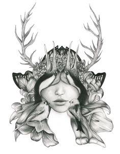 Artist Sadika Ekemen. Drawing