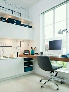 Luxury Home Office Design Ideas. Hence, the need for house offices.Whether you are intending on adding a home office or restoring an old room right into one, right here are some brilliant home office design ideas to aid you get going. Tiny Office, Small Space Office, Cool Office, Home Office Space, Office Workspace, Home Office Design, Home Office Decor, Office Furniture, Office Ideas