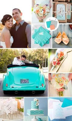 coral and turquoise wedding colors - Google Search